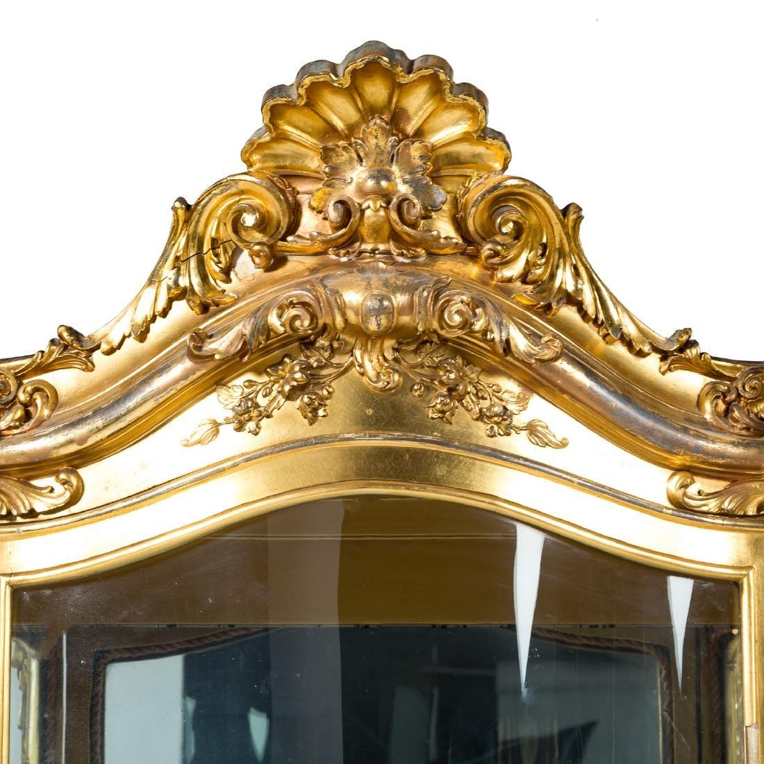 Louis XV style giltwood bombe vitrine - 3