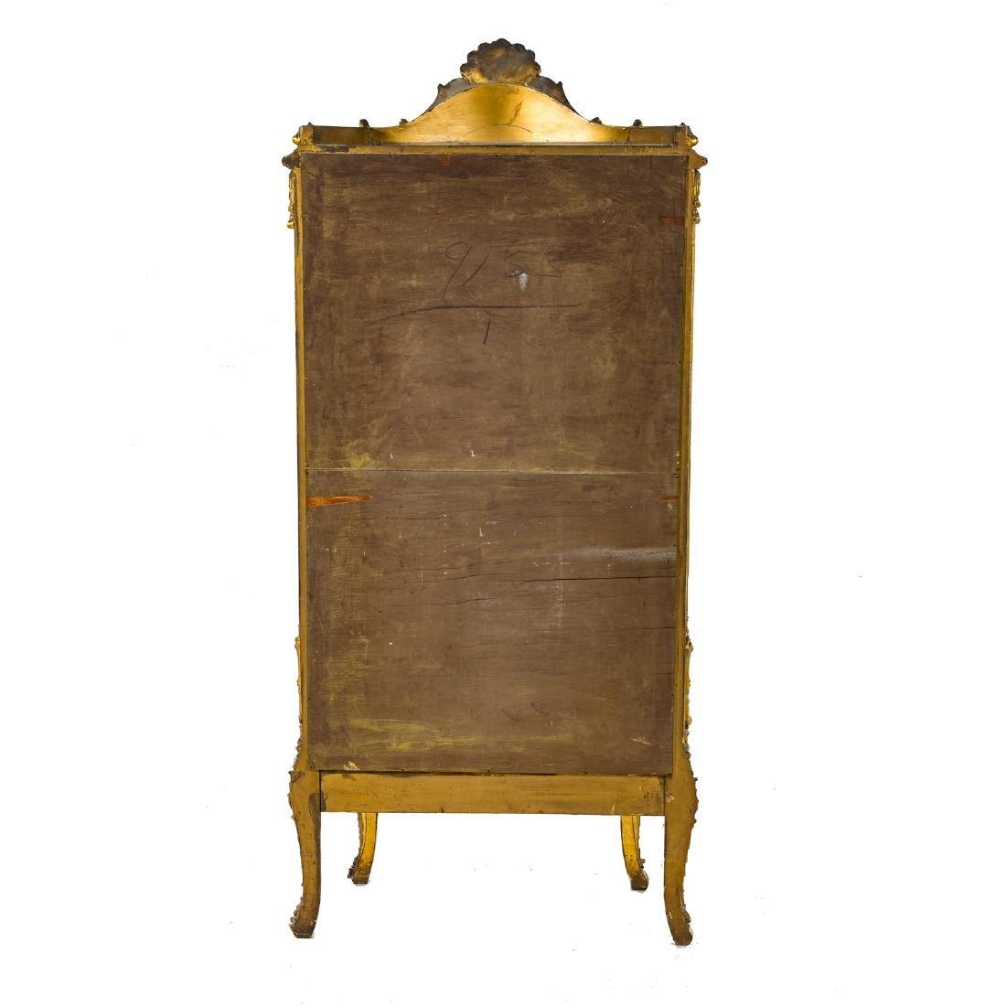 Louis XV style giltwood bombe vitrine - 5