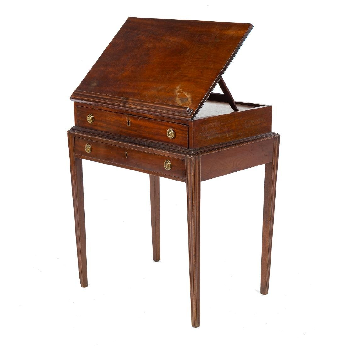 George III style mahogany architect's desk
