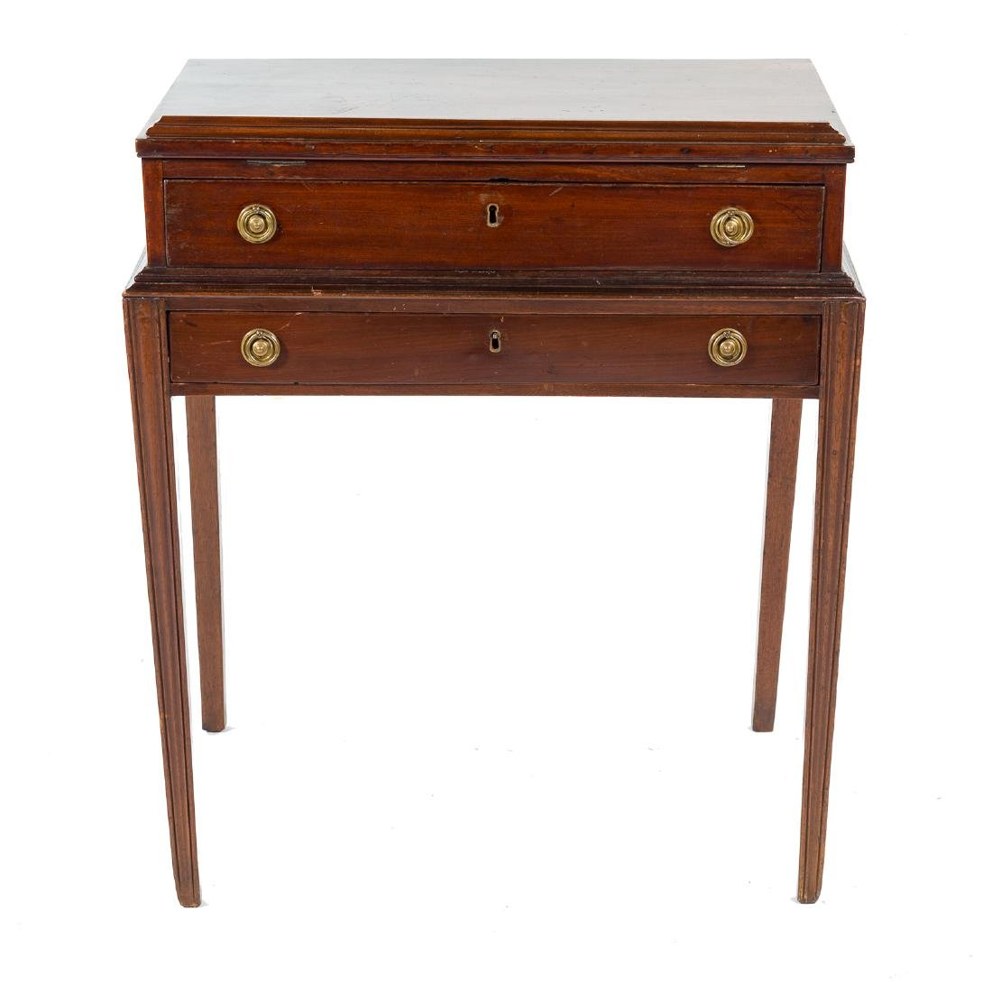 George III style mahogany architect's desk - 2