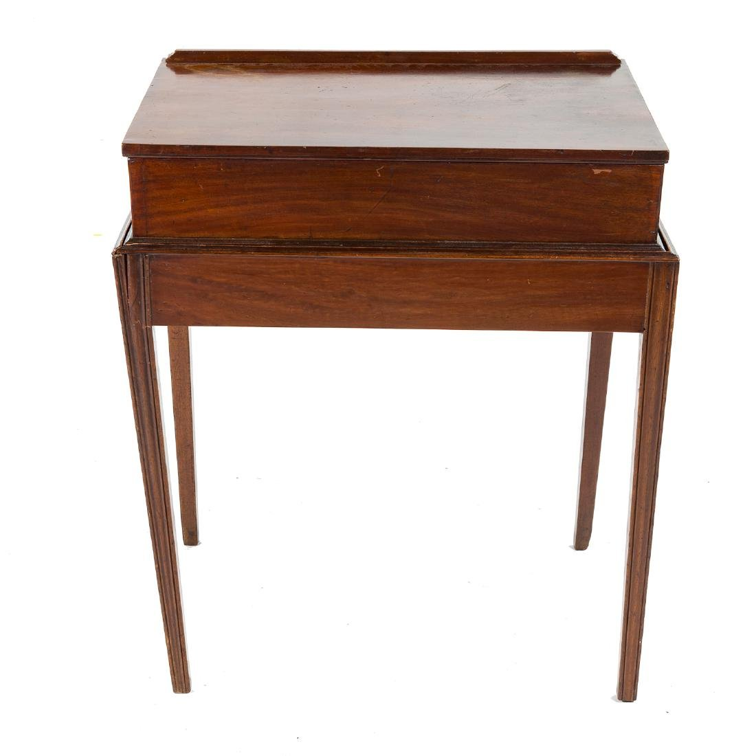 George III style mahogany architect's desk - 4