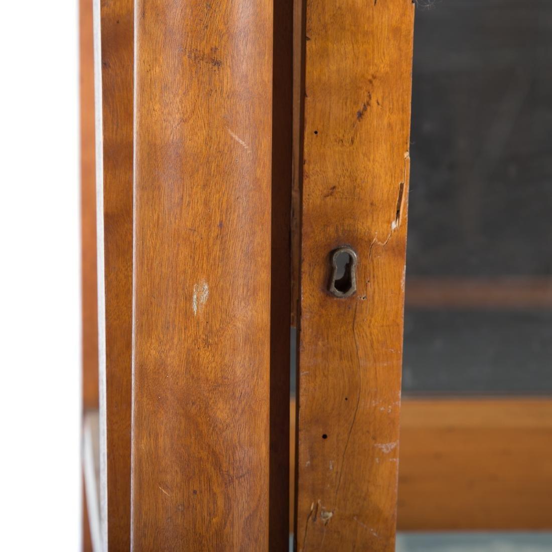 German/Austrian Biedermeier fruitwood vitrine - 4