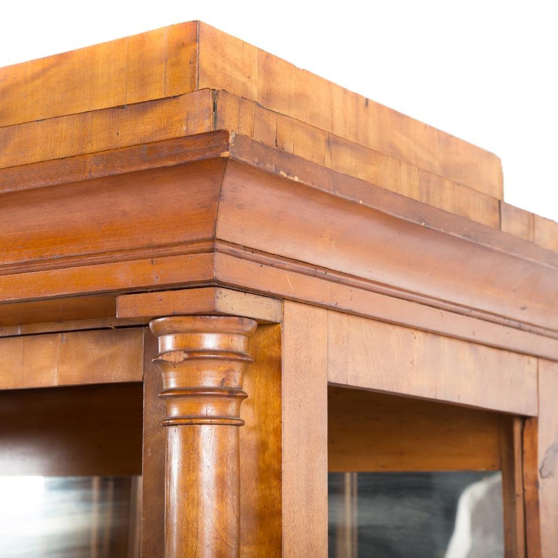 German/Austrian Biedermeier fruitwood vitrine - 7