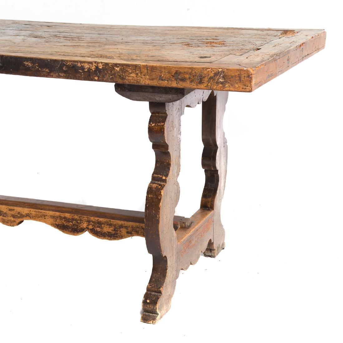 Italian walnut refectory table - 2