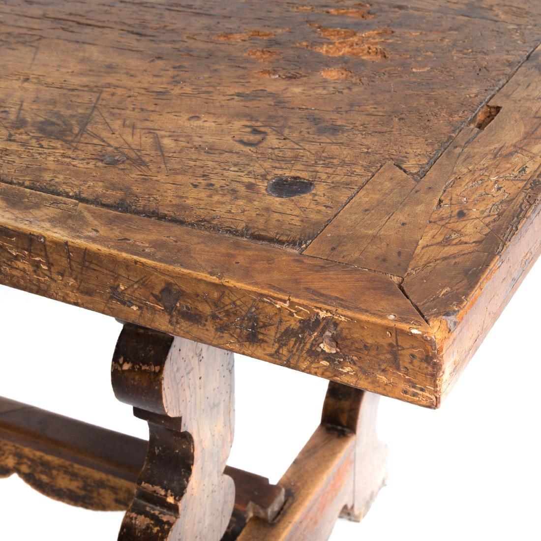 Italian walnut refectory table - 4