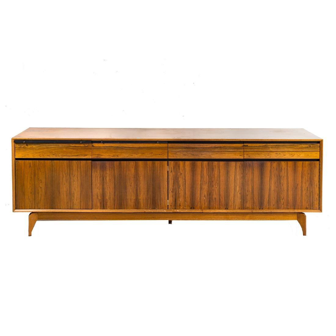 Cabinet-made Mid-Century Modern teakwood credenza