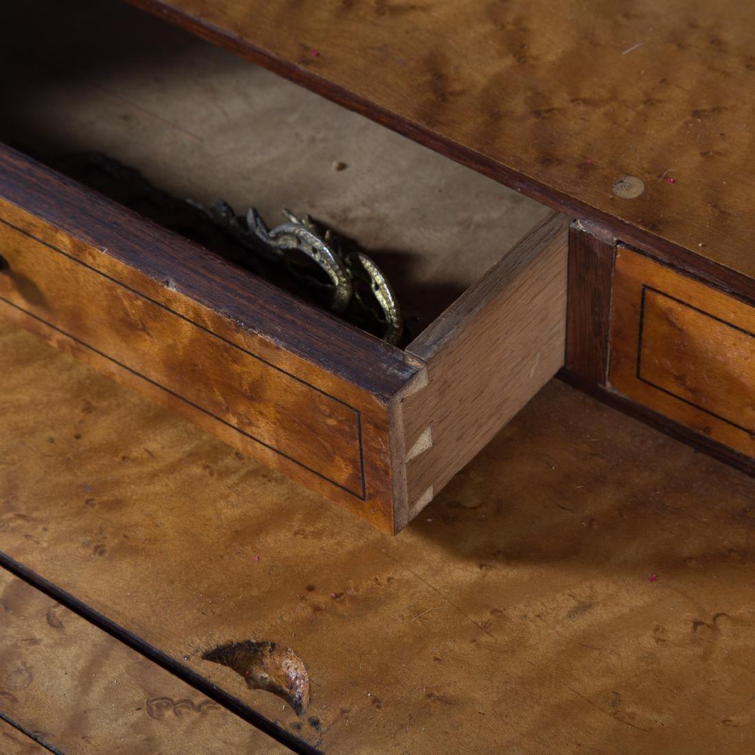 Louis XV style rosewood & parquetry pente bureau - 6