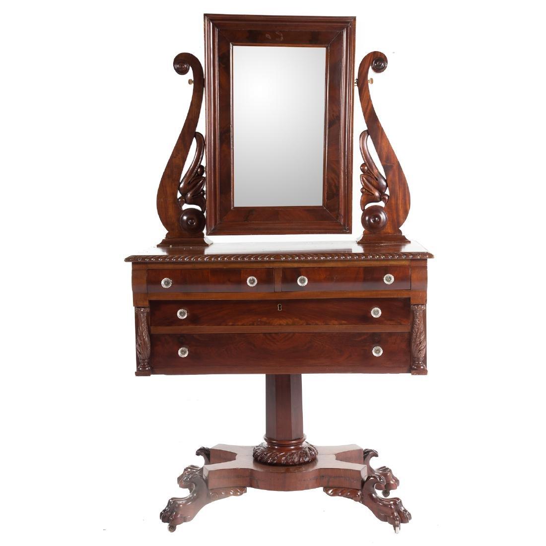 Classical Revival mahogany dressing table