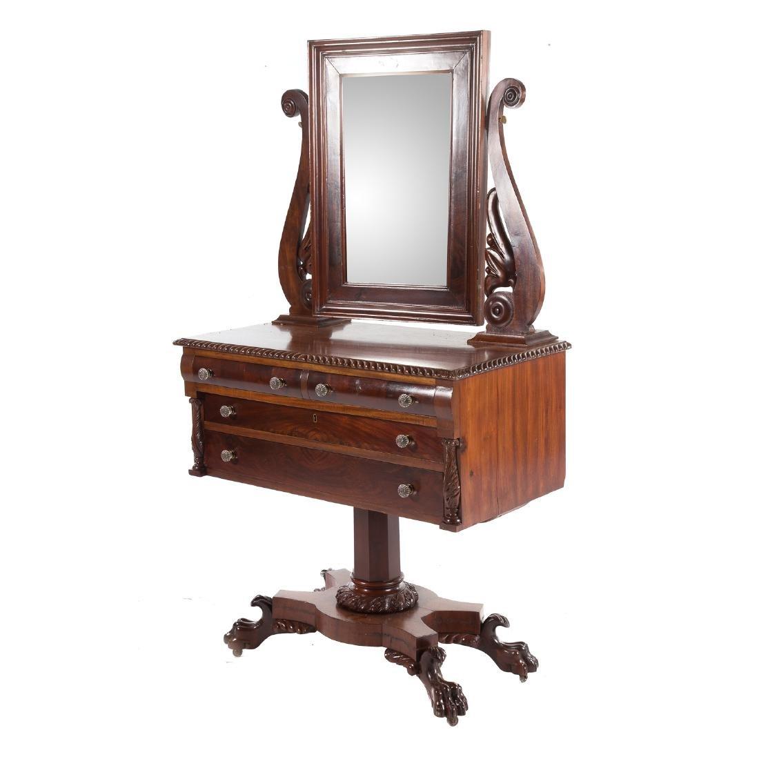 Classical Revival mahogany dressing table - 2