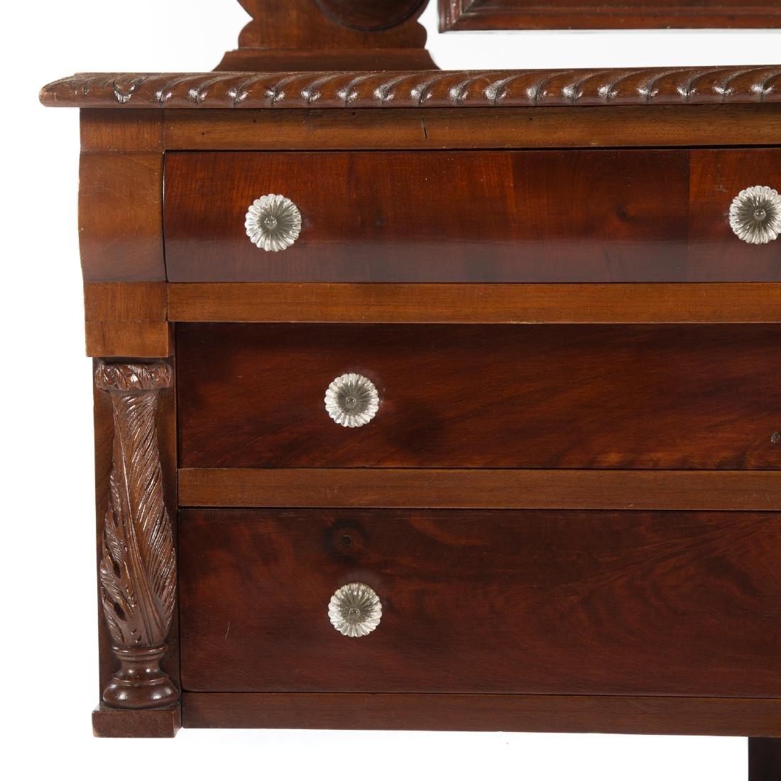 Classical Revival mahogany dressing table - 4