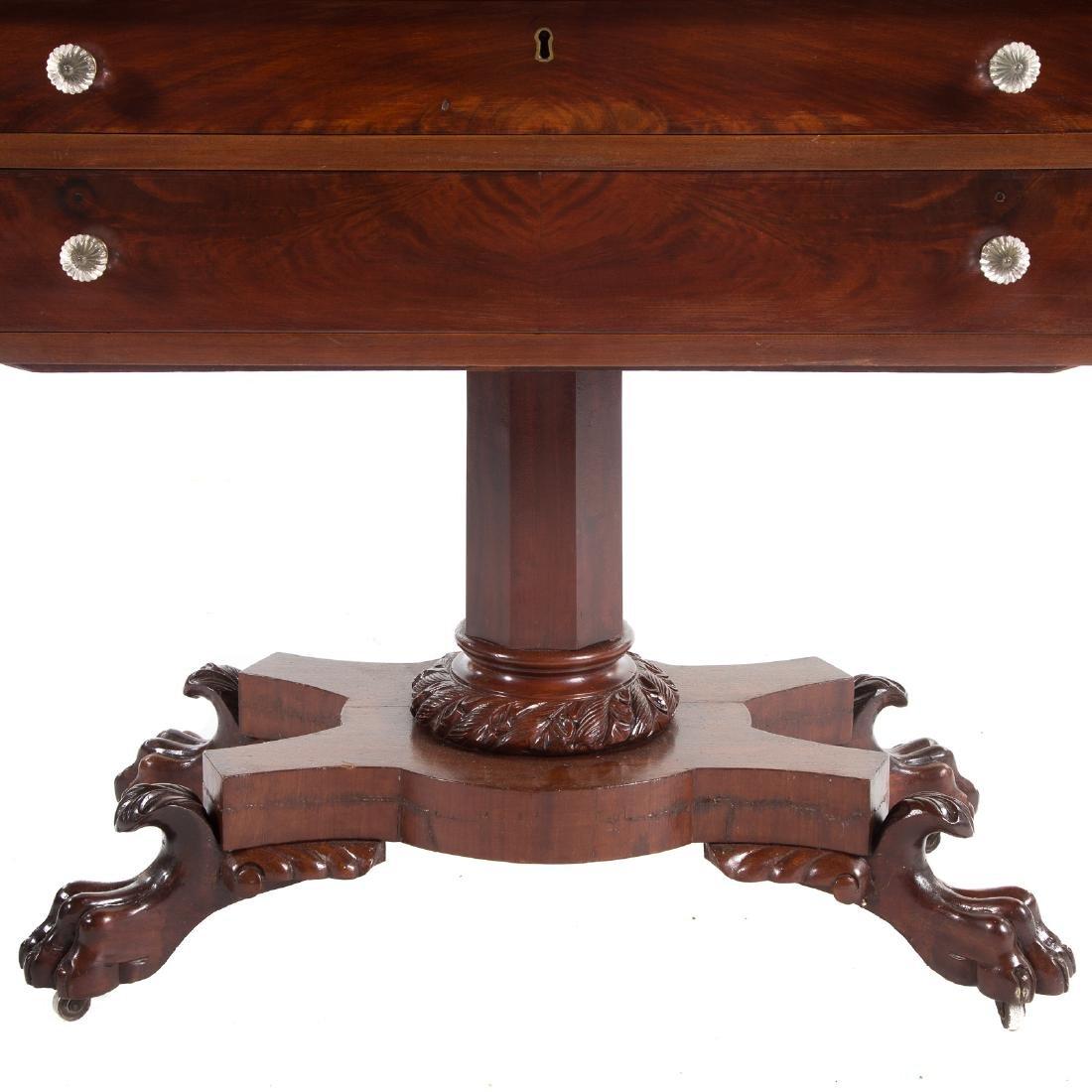Classical Revival mahogany dressing table - 5