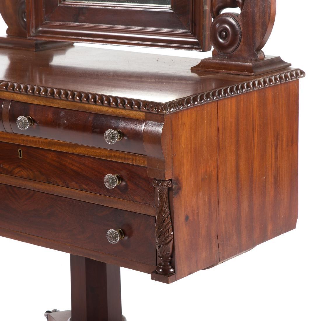 Classical Revival mahogany dressing table - 9