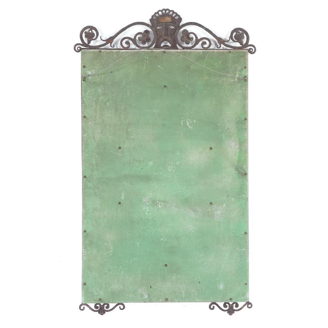 Oscar Bach, Art Deco painted bronze mirror - 5