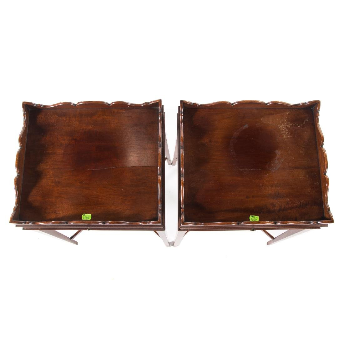 Pair Federal style mahogany side tables - 2
