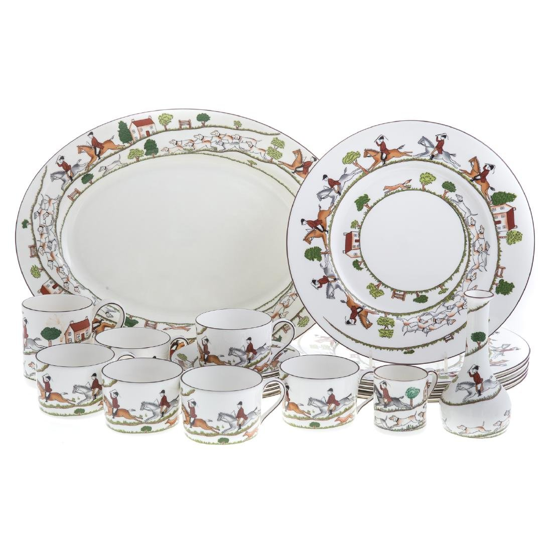 Wedgwood china 33-piece partial dinner service