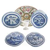 Six pieces of Chinese Export porcelain tableware