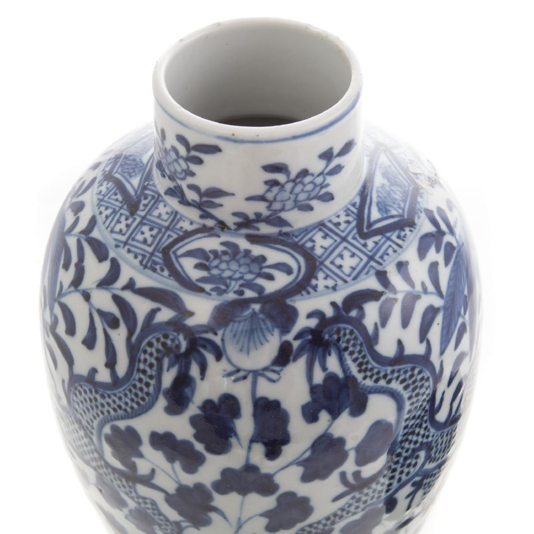 Chinese celadon bowl and blue/white jar - 7