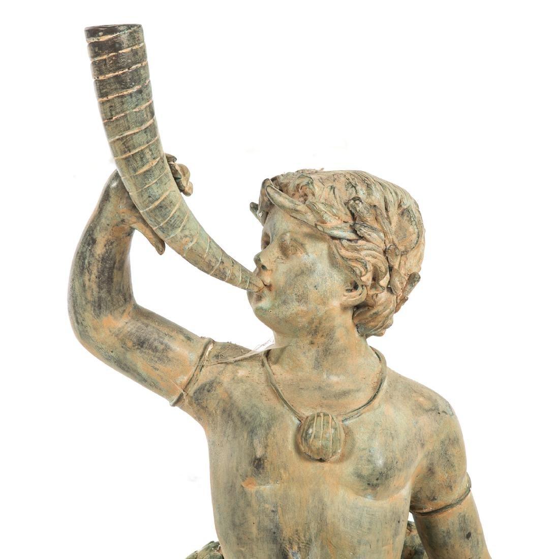 Classical style bronze fountain of Triton - 2