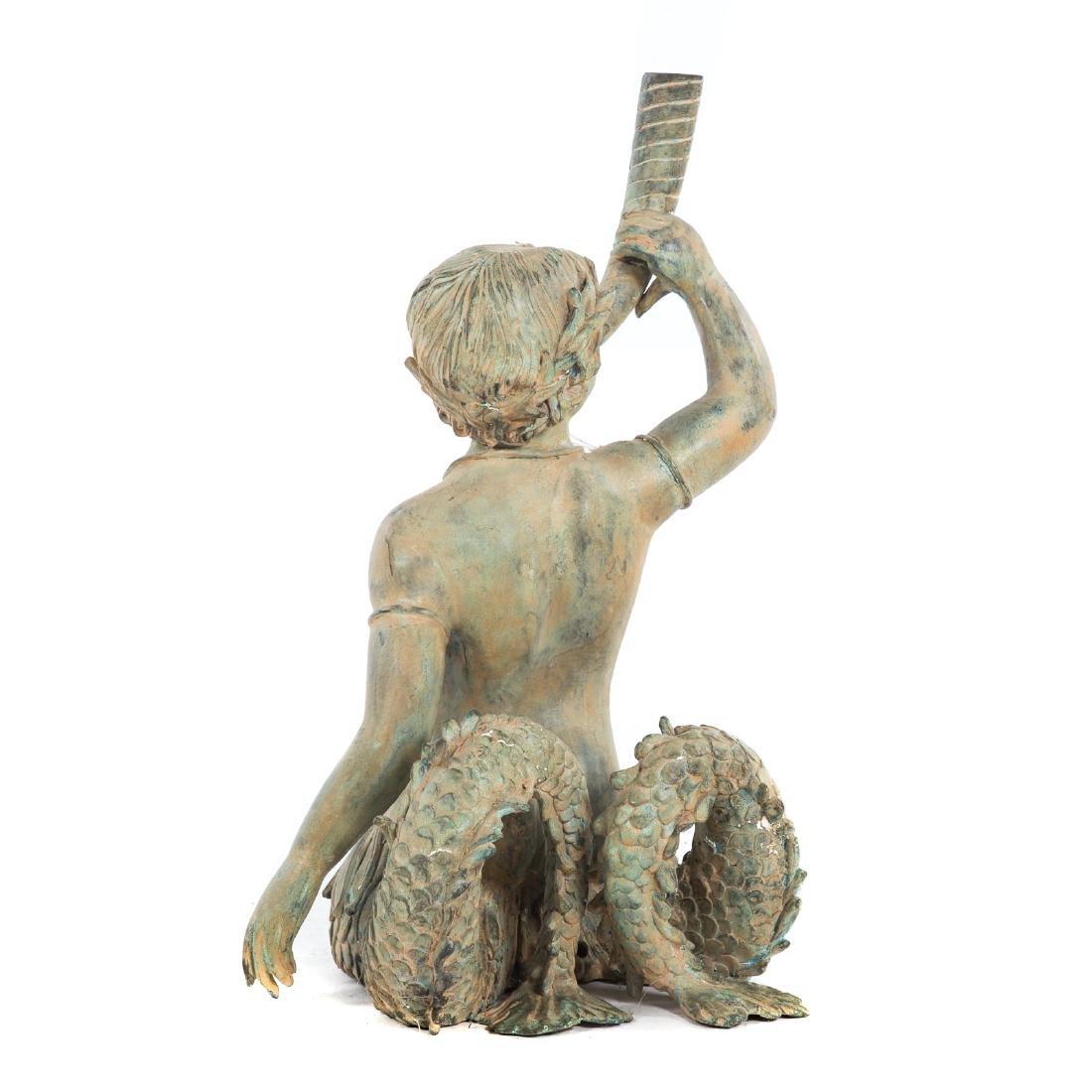 Classical style bronze fountain of Triton - 3