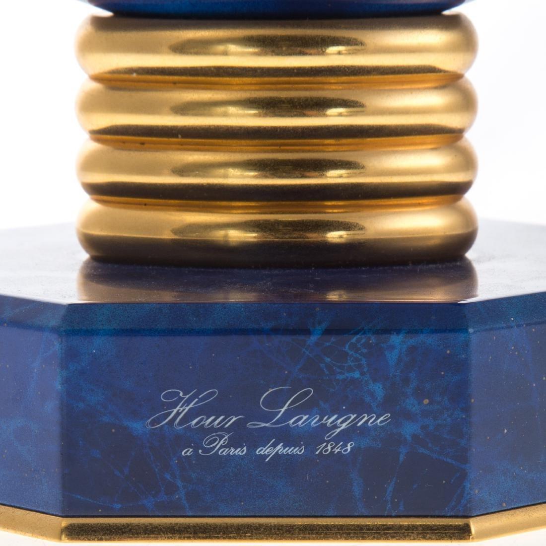 Hour Lavigne blue hardstone desk clock - 2