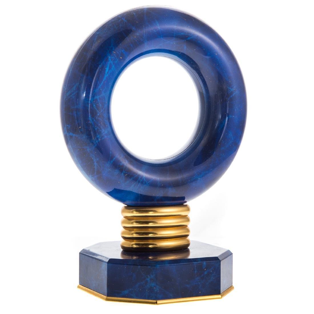 Hour Lavigne blue hardstone desk clock - 4