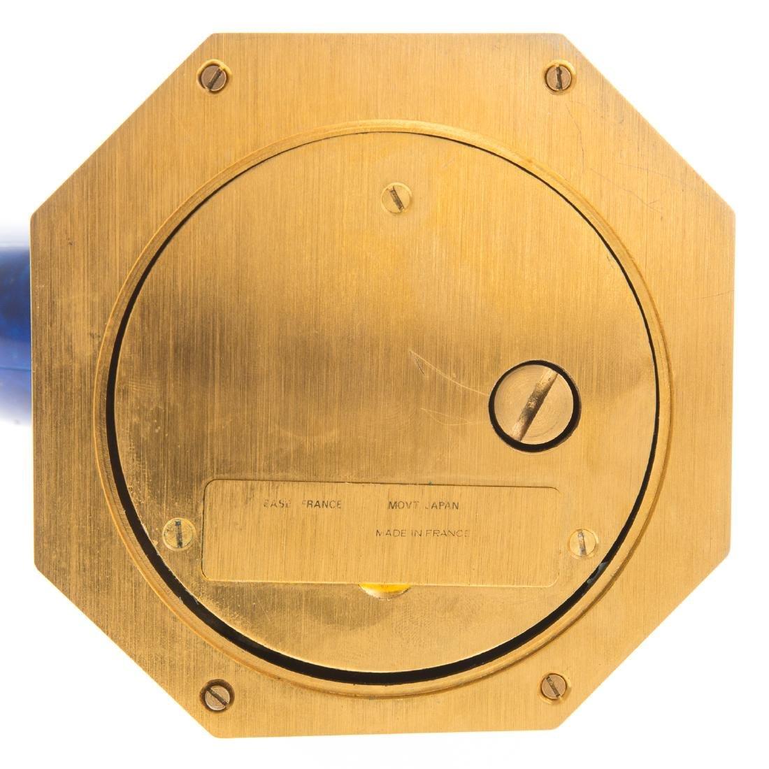 Hour Lavigne blue hardstone desk clock - 5