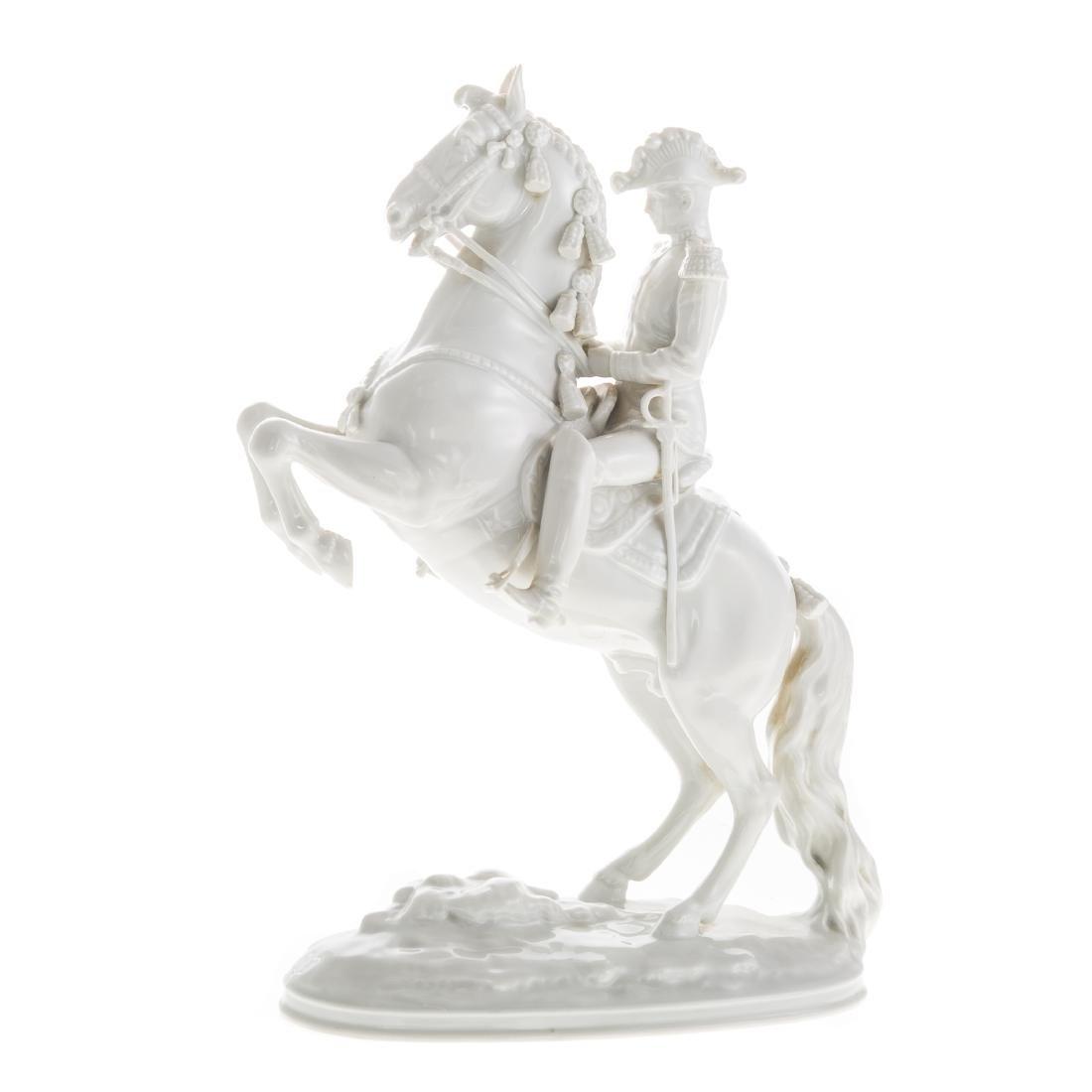Royal Vienna porcelain Lippizaner stallion/rider