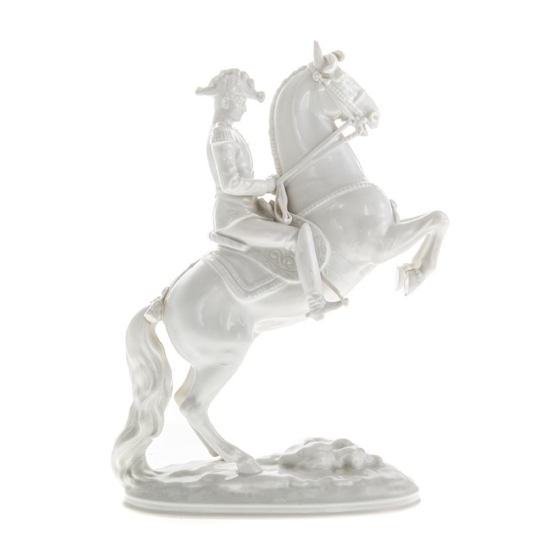 Royal Vienna porcelain Lippizaner stallion/rider - 2
