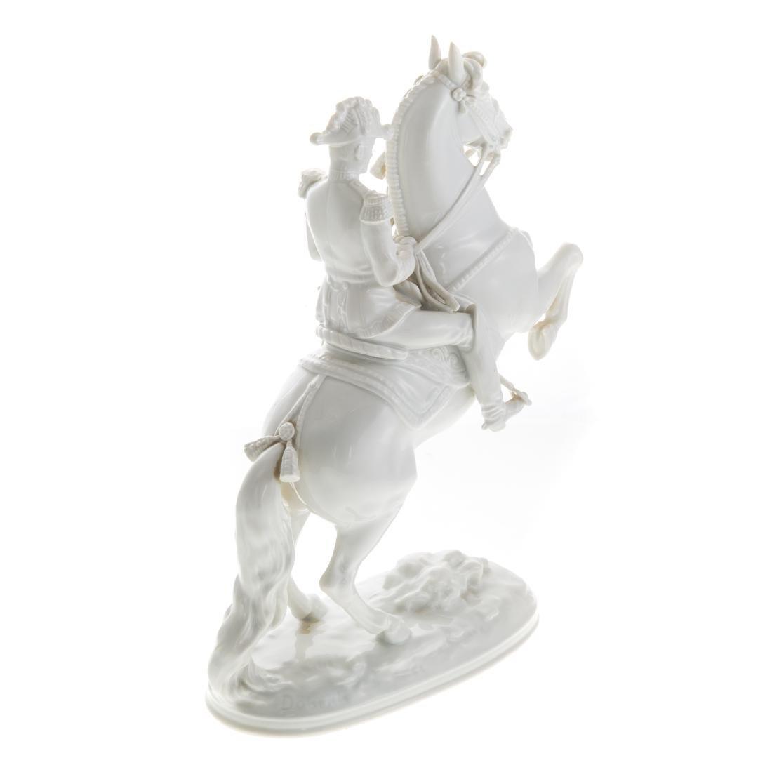 Royal Vienna porcelain Lippizaner stallion/rider - 3