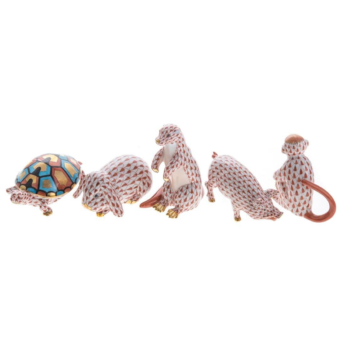 Five Herend porcelain animals - 2