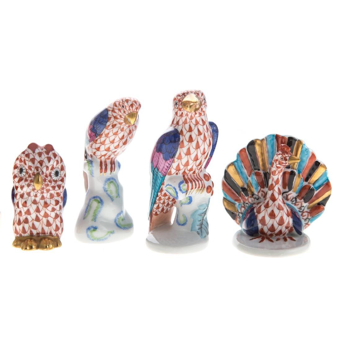 Seven Herend porcelain birds - 2