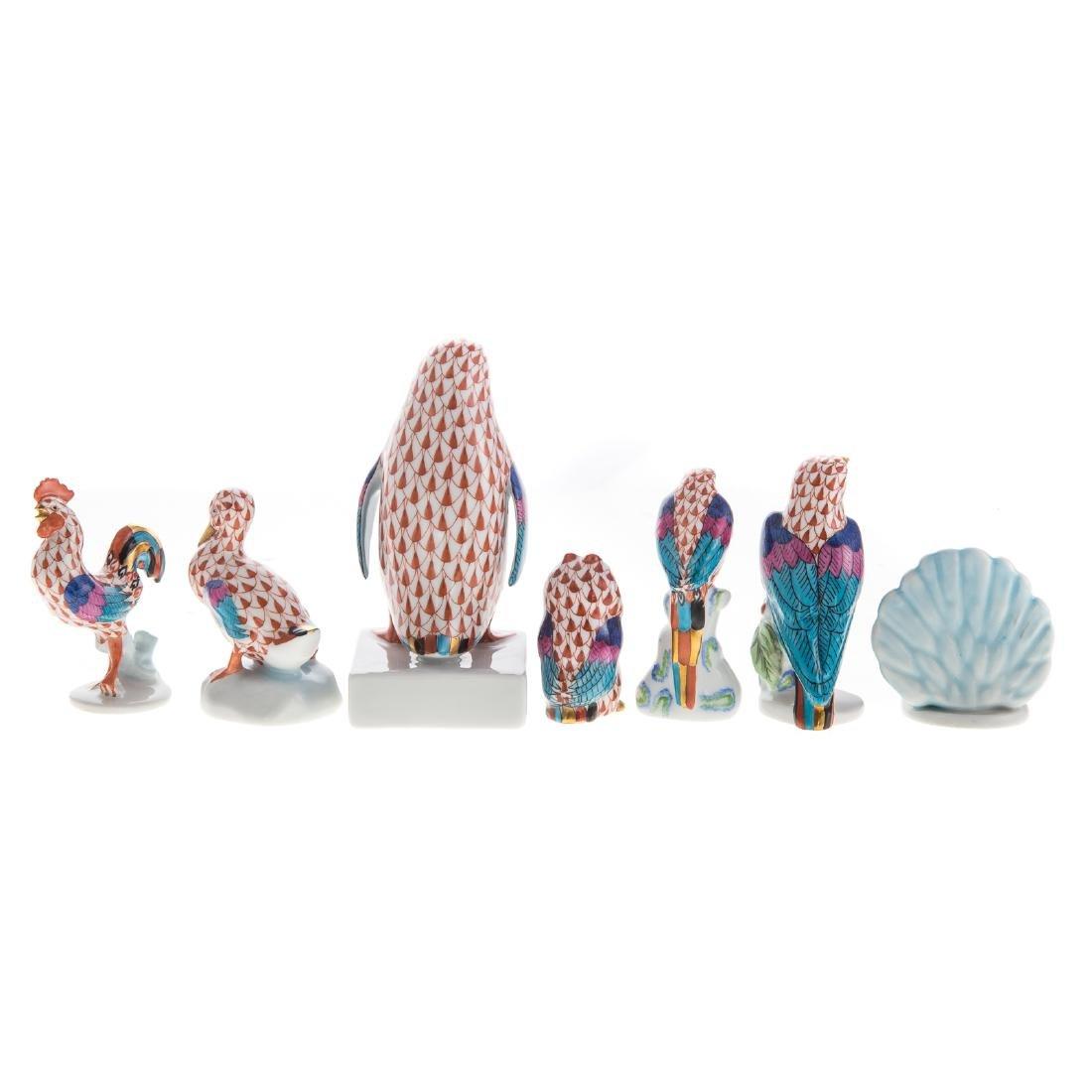 Seven Herend porcelain birds - 4