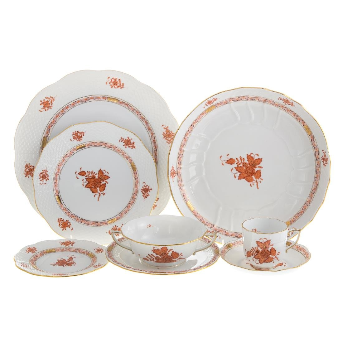 Herend china partial dinner service