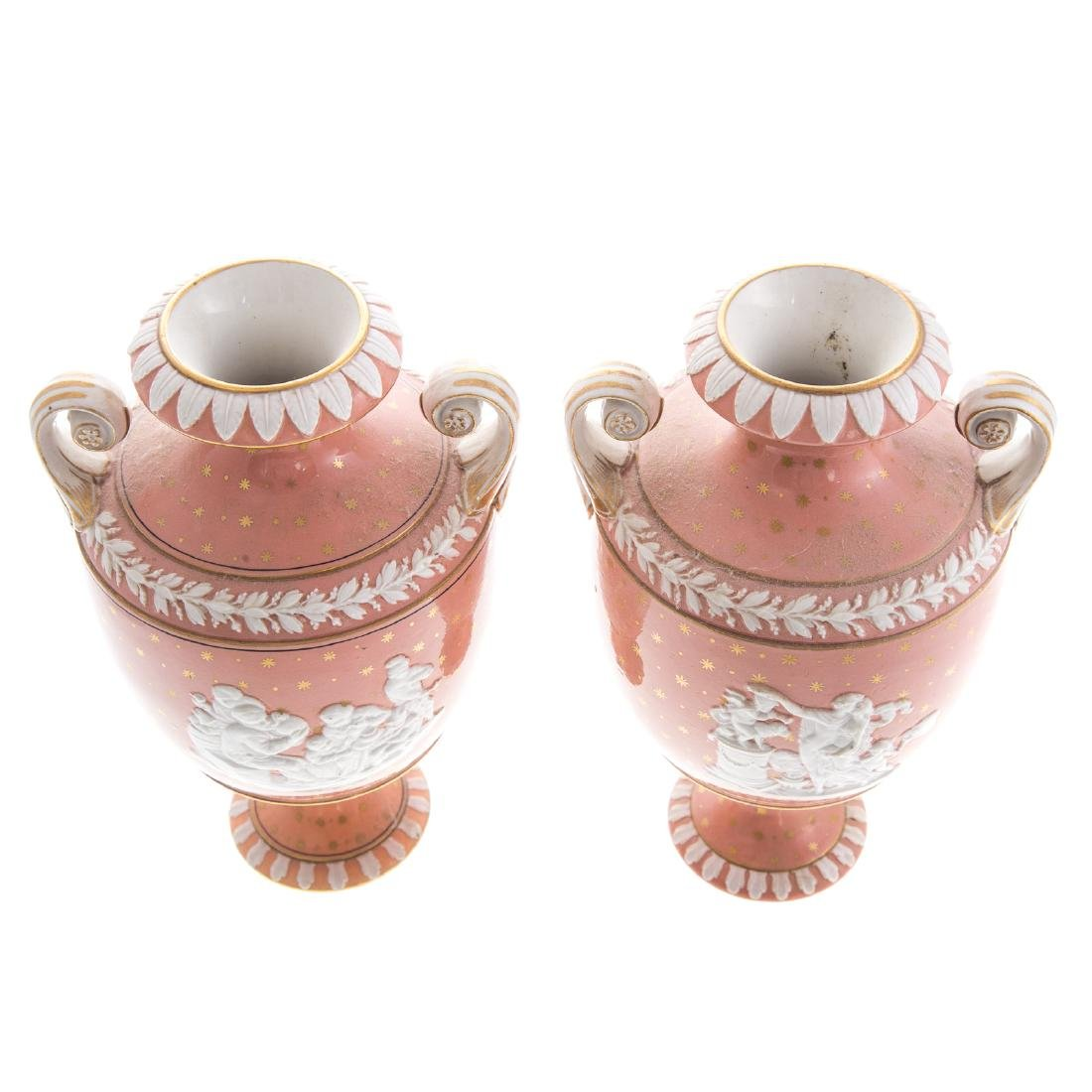 Pair Wedgwood glazed jasperware urns - 4