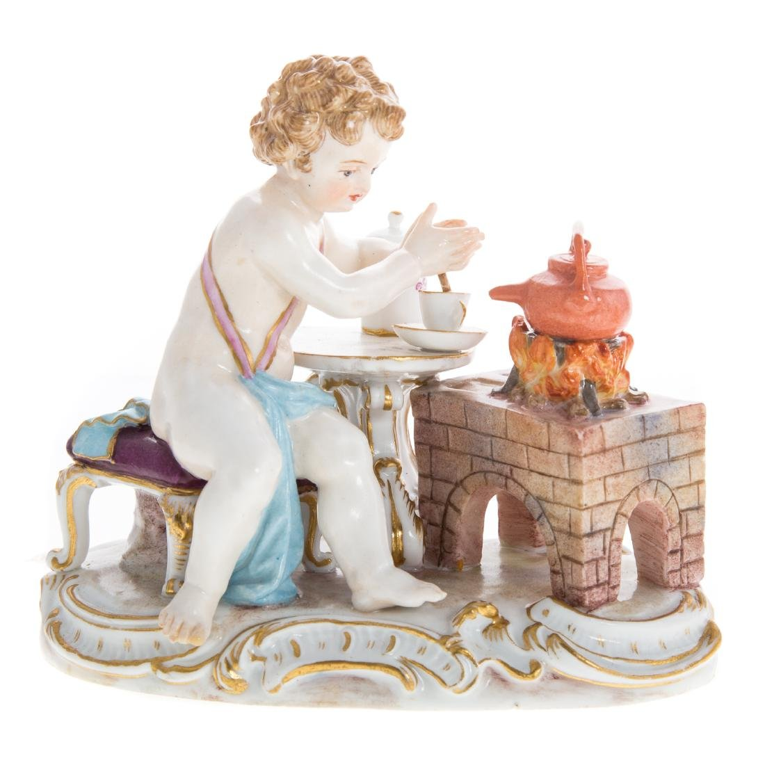 Three Meissen porcelain figural groups - 2