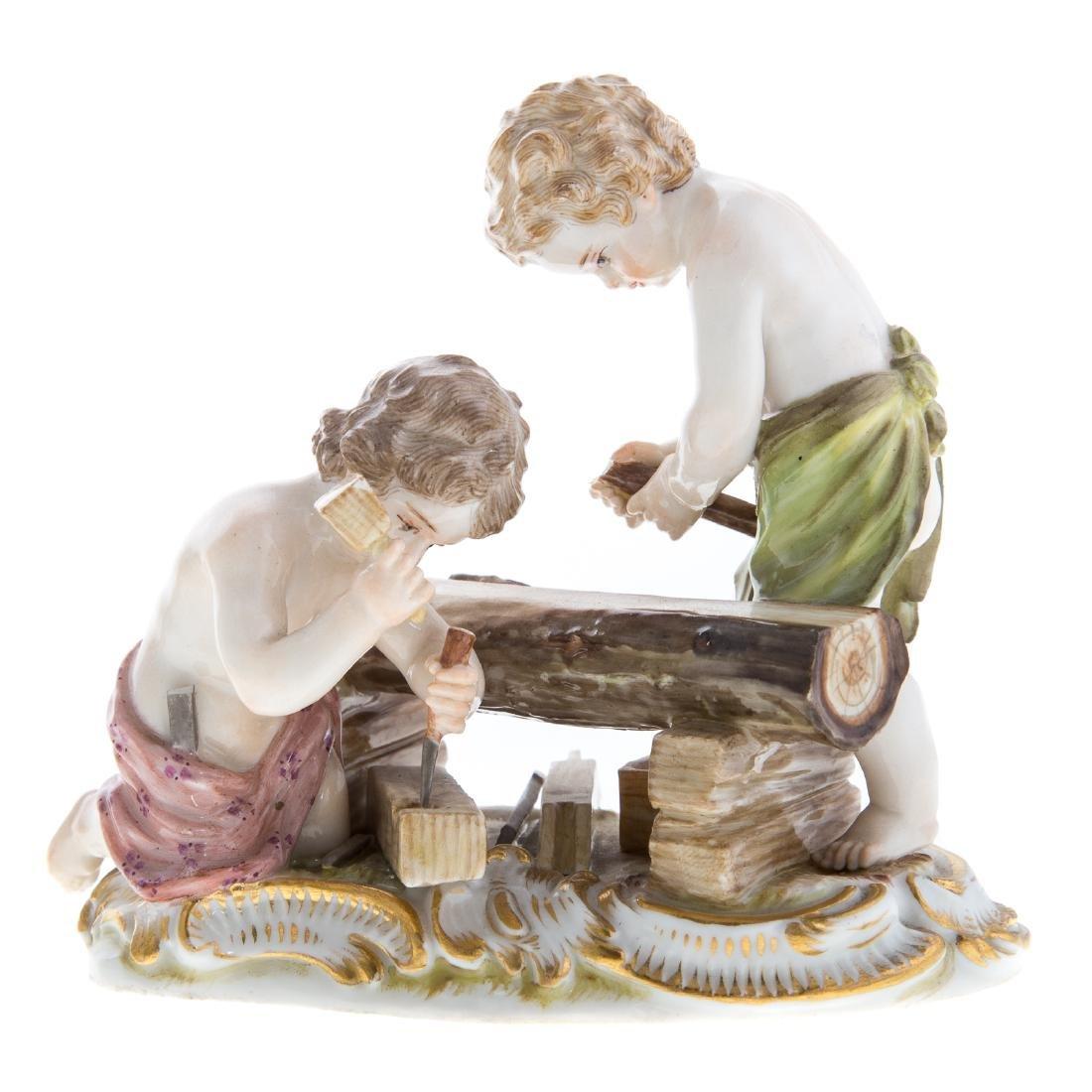 Three Meissen porcelain figural groups - 4