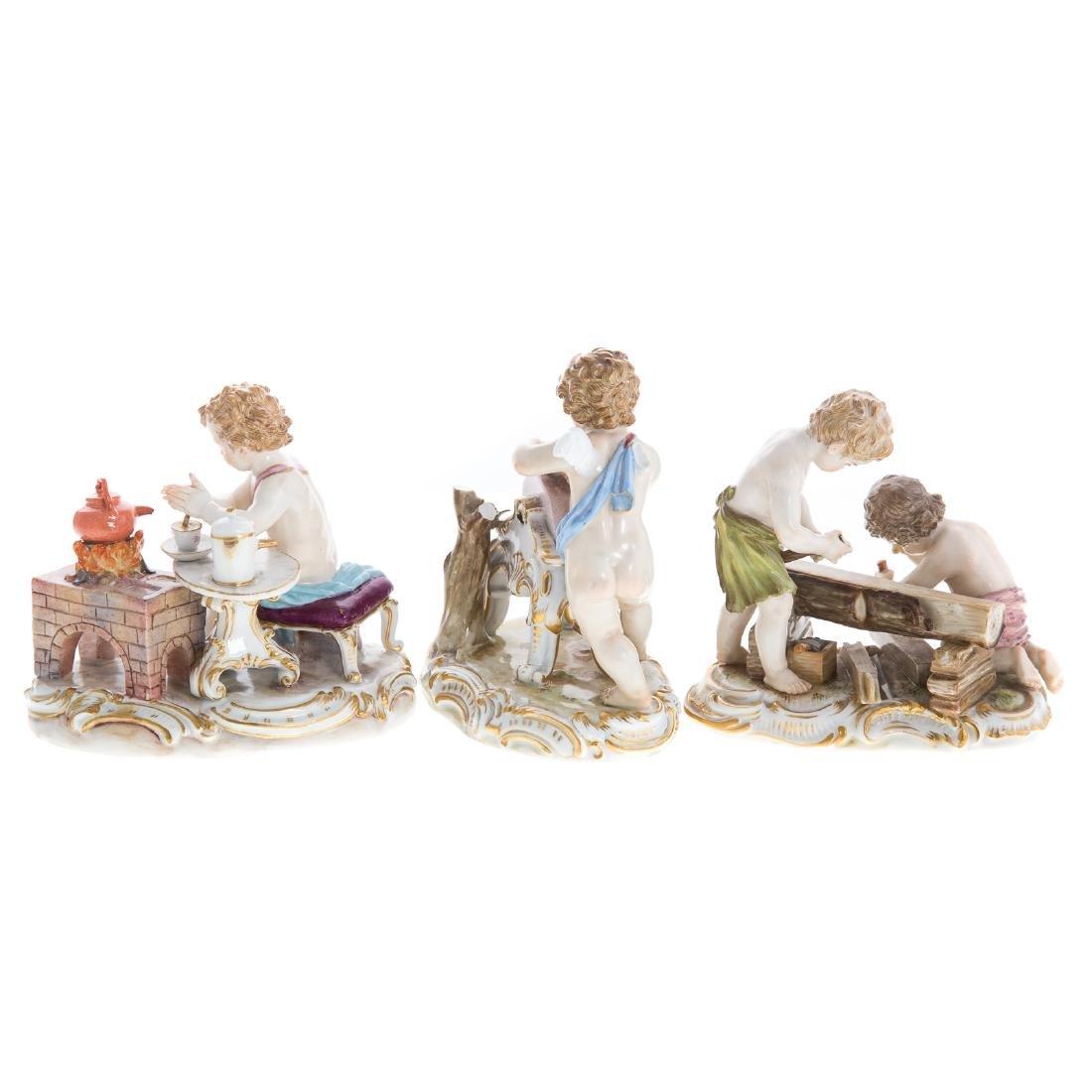 Three Meissen porcelain figural groups - 5