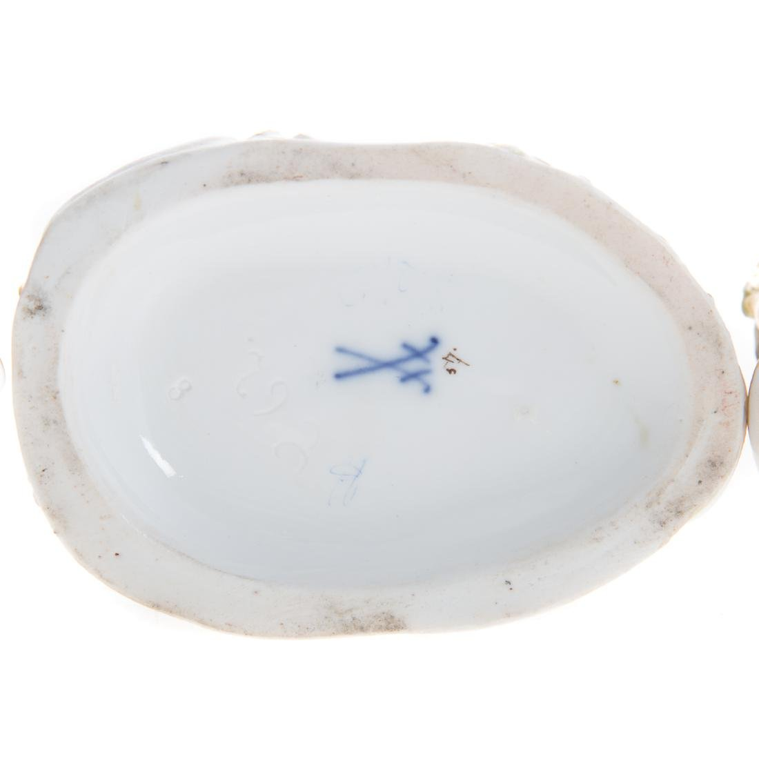 Three Meissen porcelain figural groups - 7