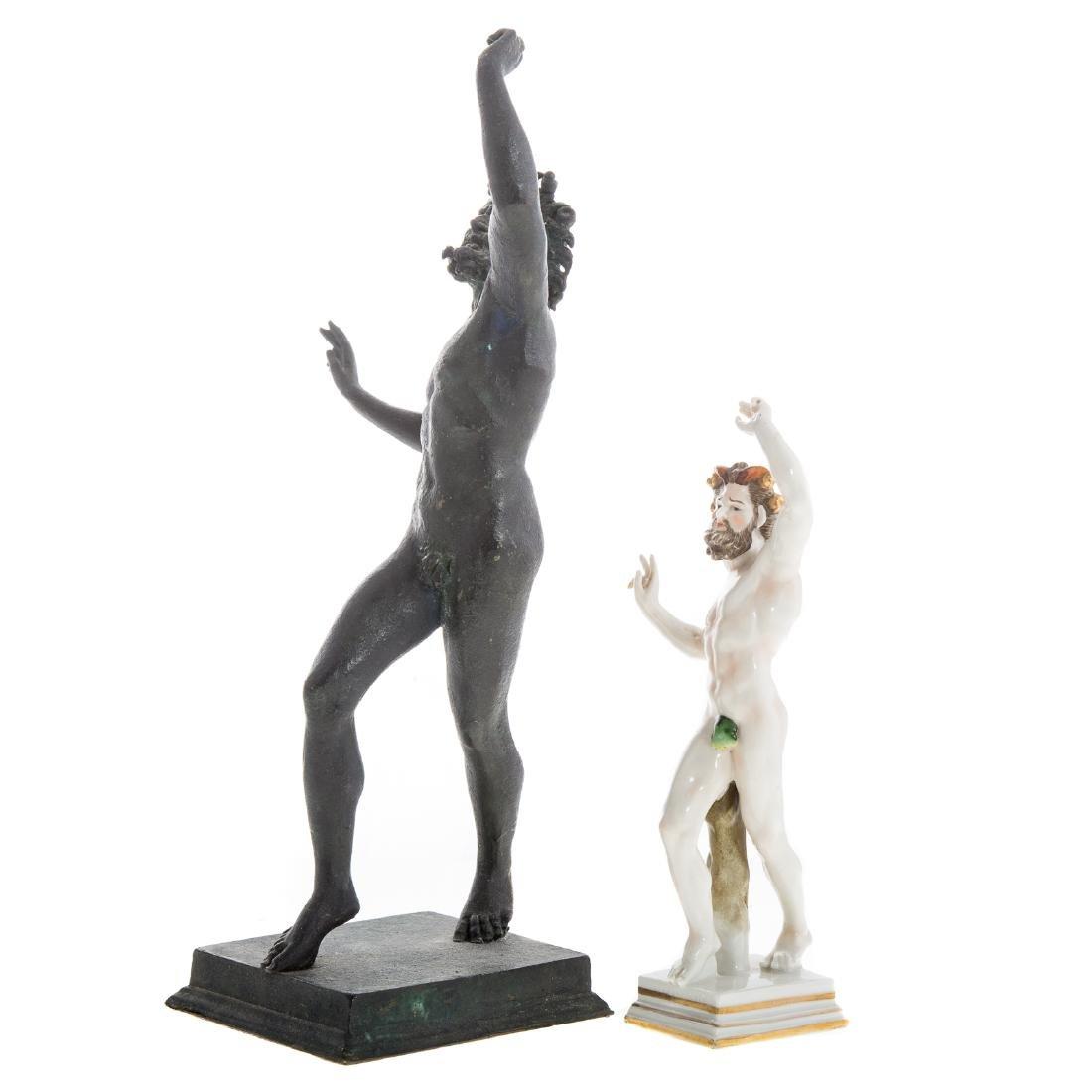 Italian Grande Tour bronze faun - 2