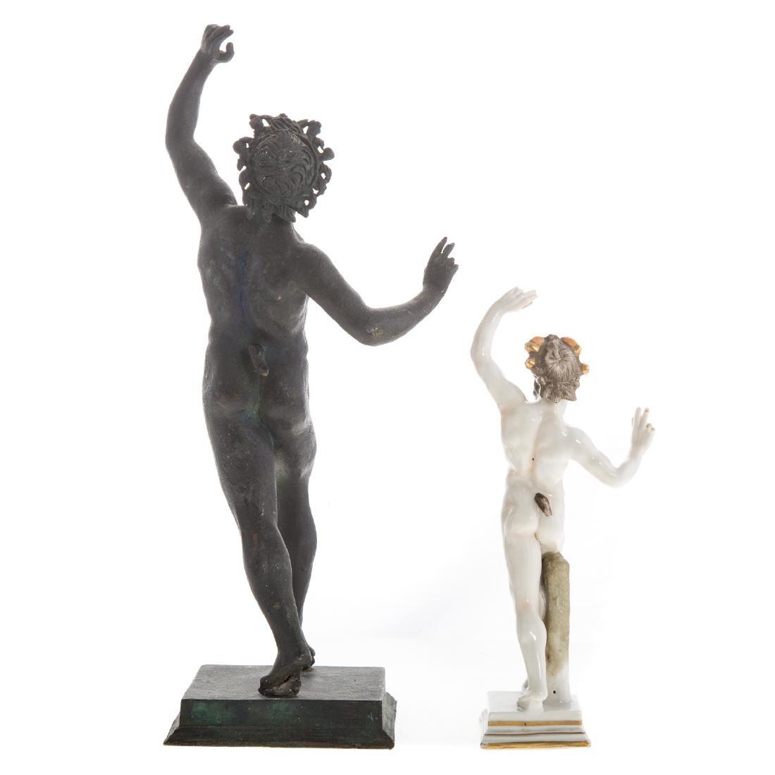 Italian Grande Tour bronze faun - 3