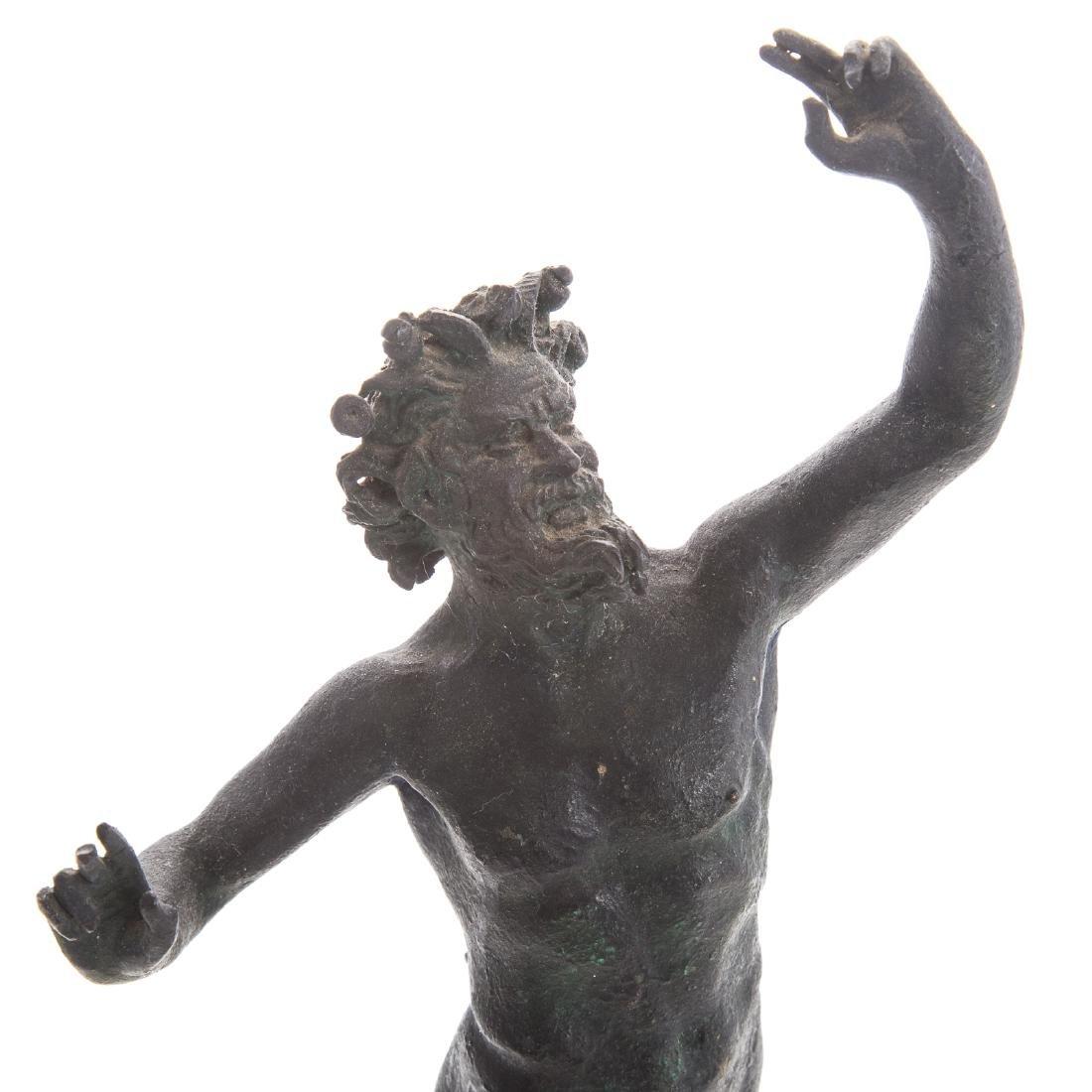 Italian Grande Tour bronze faun - 6