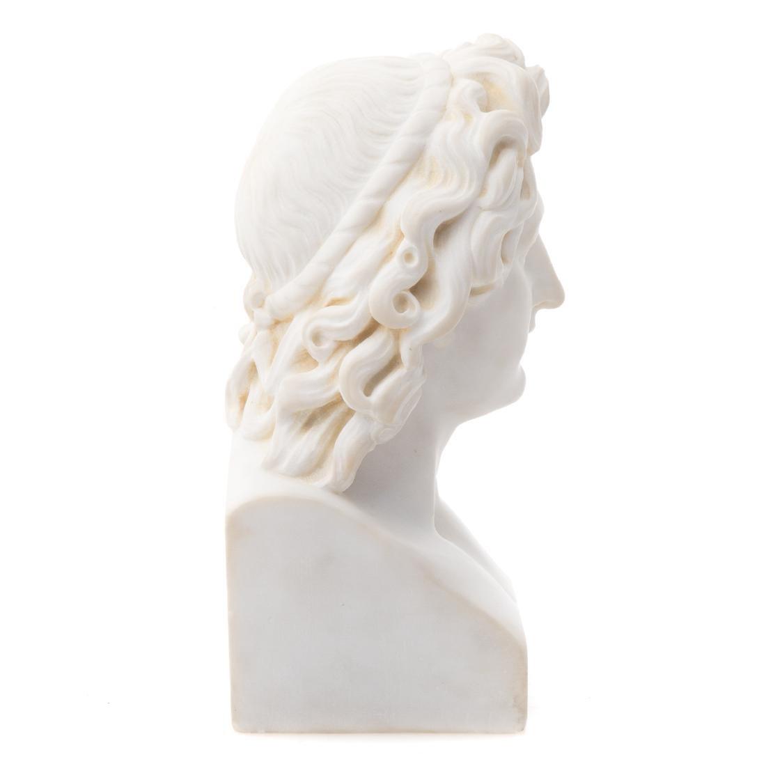 Italian Grande Tour marble bust of Apollo - 4