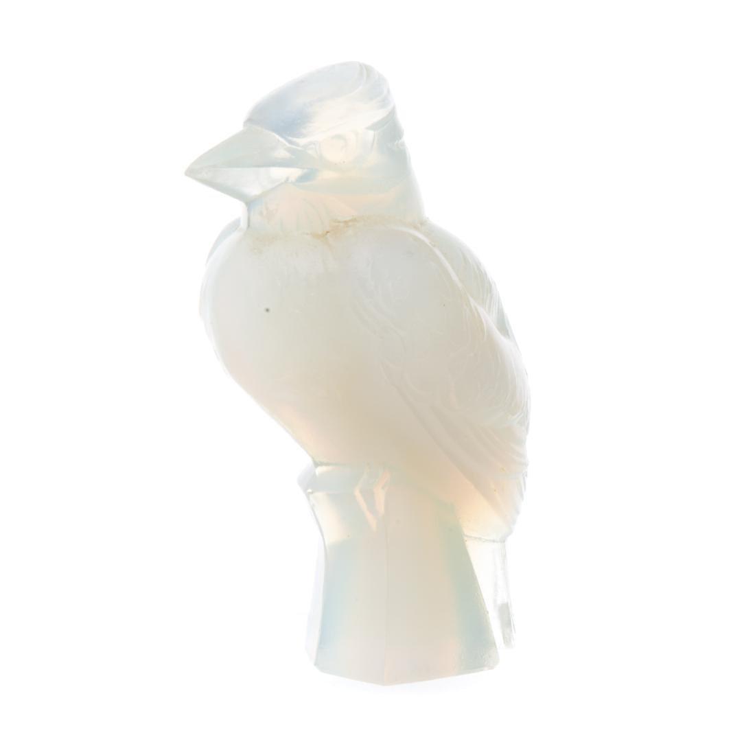 Sabino glass torso, songbird, and Lalique vase - 3
