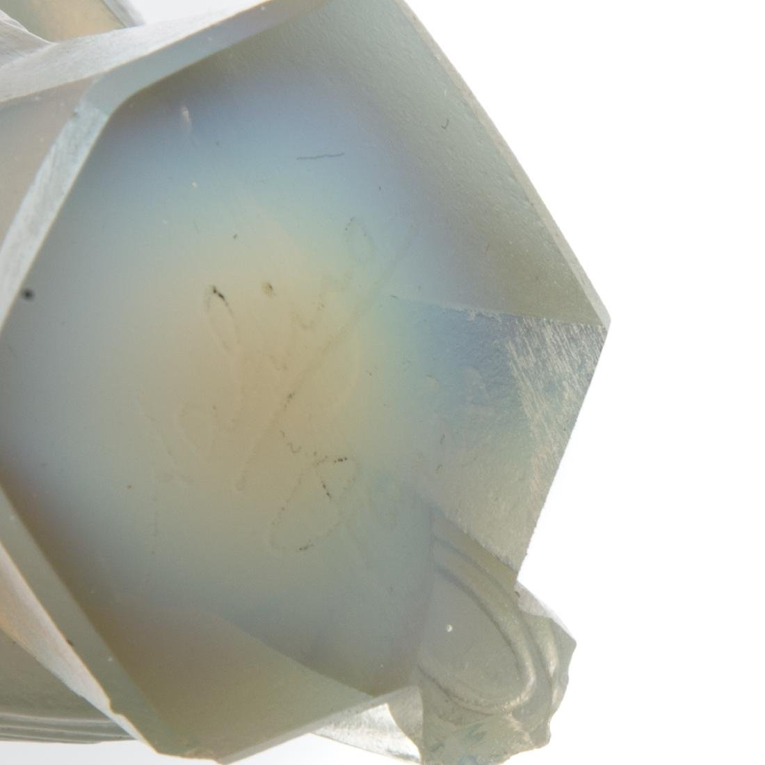 Sabino glass torso, songbird, and Lalique vase - 5