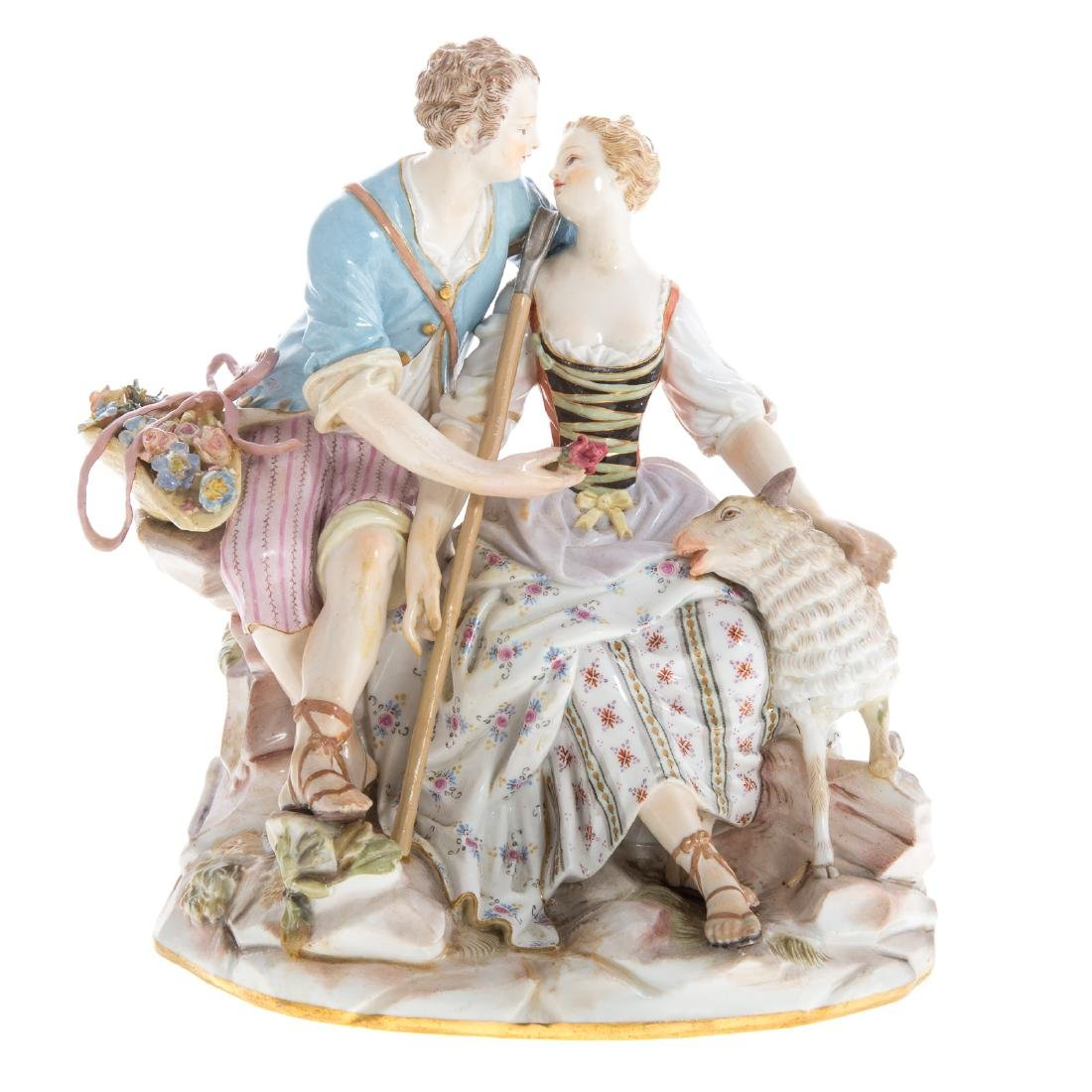 Meissen porcelain pastoral figure group