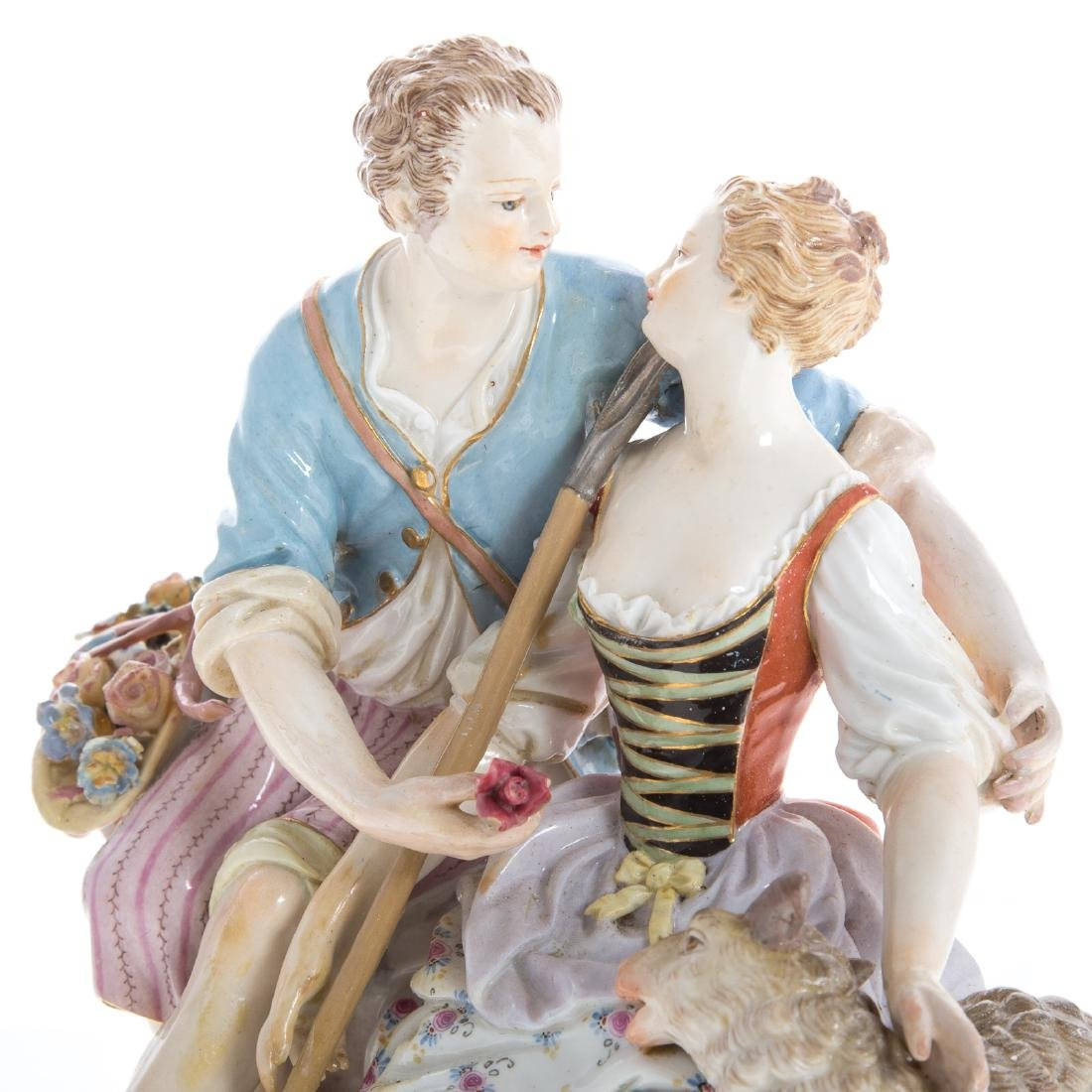Meissen porcelain pastoral figure group - 2
