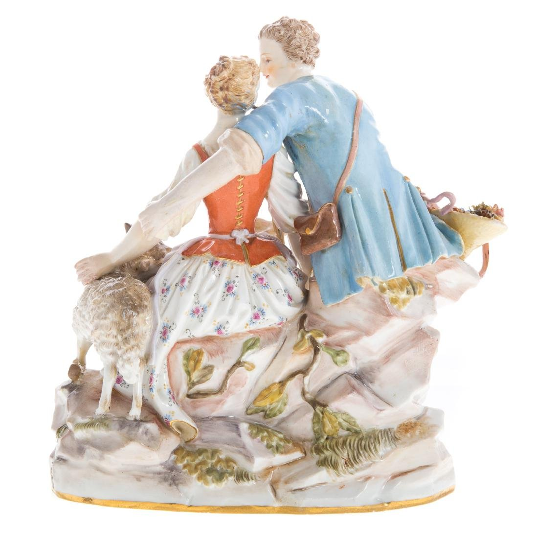 Meissen porcelain pastoral figure group - 3