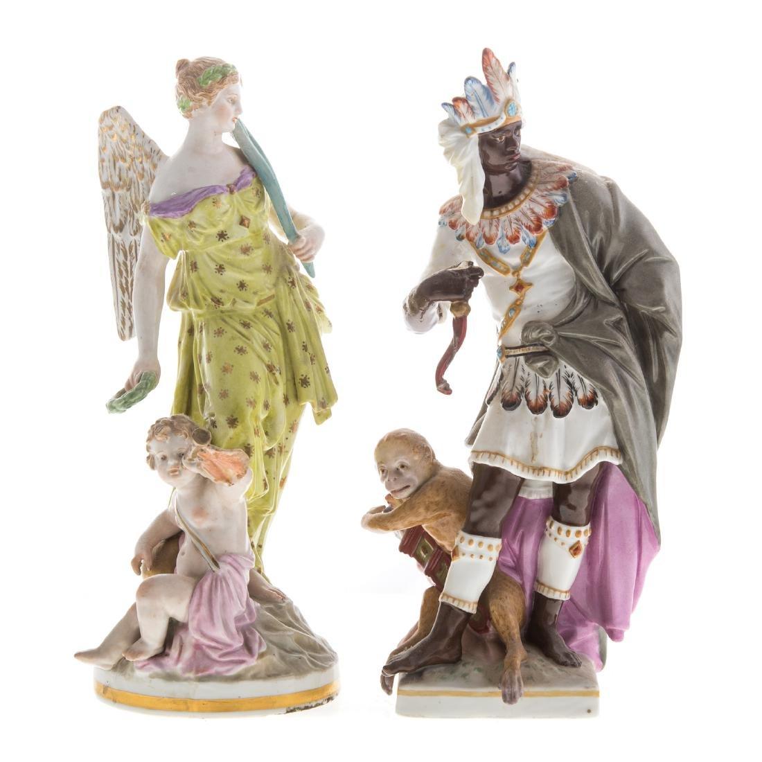 Two KPM porcelain figures
