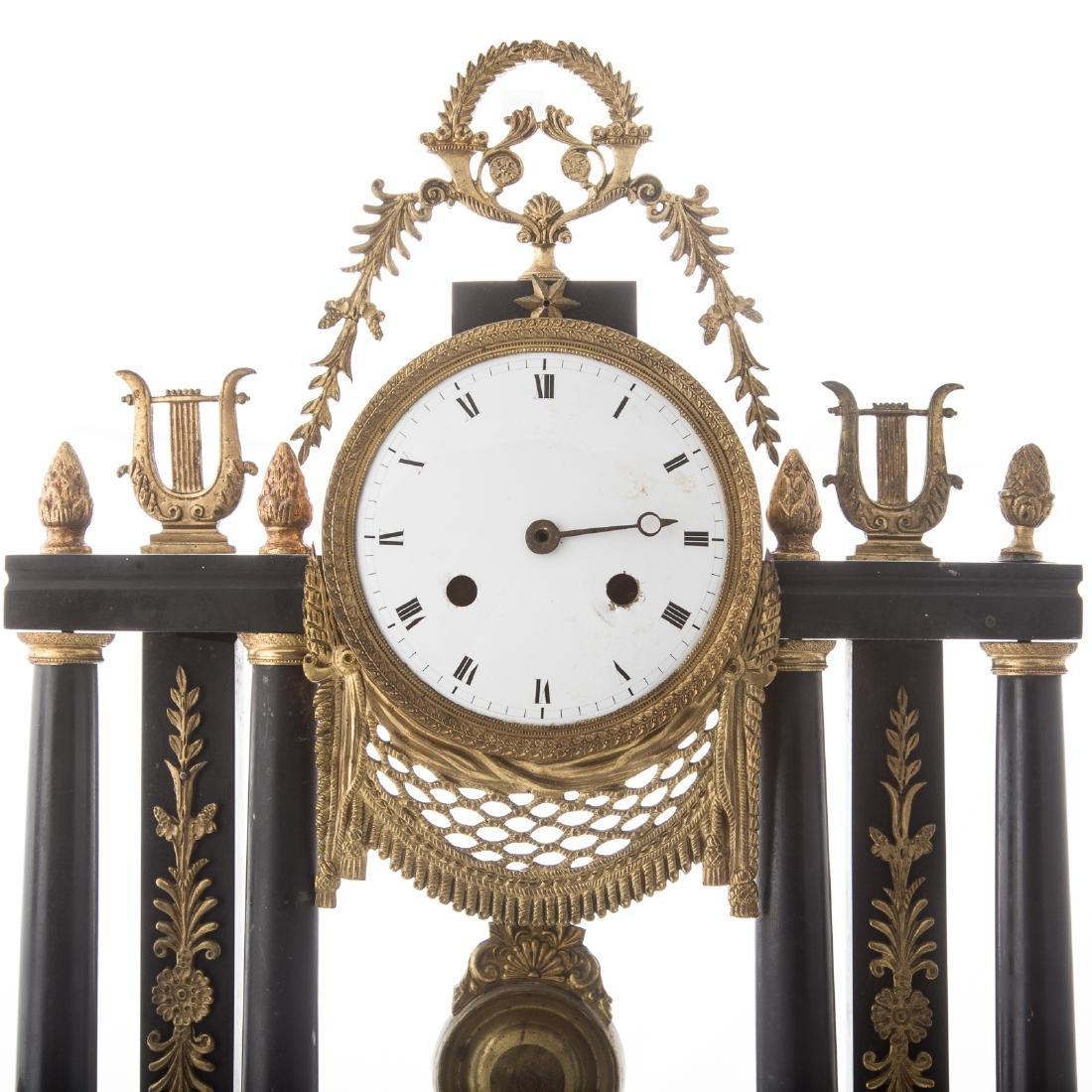 Napoleon III portico clock garniture - 2