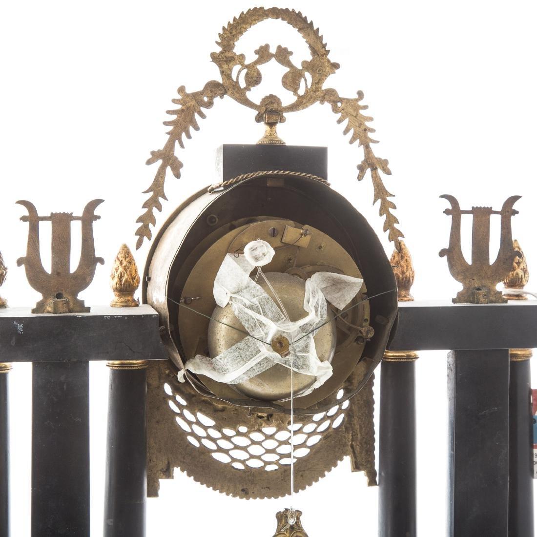 Napoleon III portico clock garniture - 5